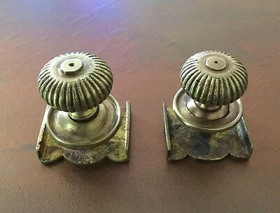 Vintage - Heavy Brass Cabinet Knob With A Back Plate