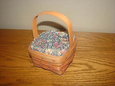 Longaberger 1991 Mother's Day Hostess Only Touch Of Pink POTPOURRI Basket Set
