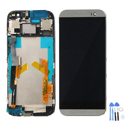 Full LCD Display Touch Screen Digitizer + Frame With Tools For HTC One M8
