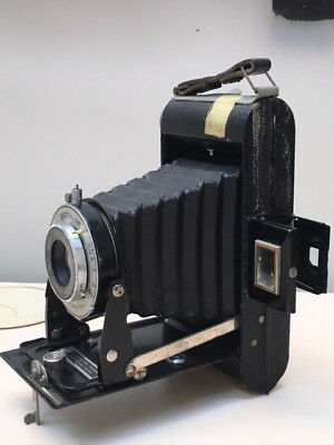 Vintage Kodak Brownie Six-20 Folding Camera Anaston 100mm 6.3 Lens