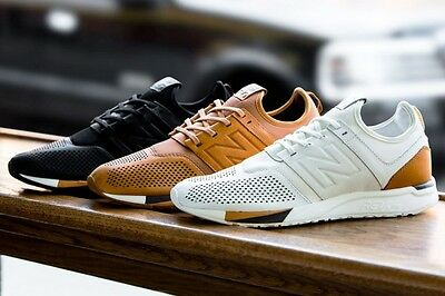 NEW BALANCE 247 Luxe MRL247 White Tan Brown Black 100% DS New w ...