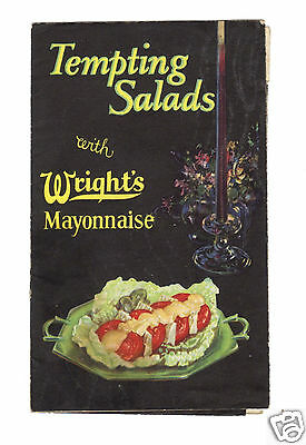 Wright's Mayonnaise Tempting Salads Recipe Booklet c.1930