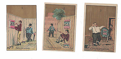 Soapine Set of 6 Cards - Kendall Mfg. Co. Admiration, Innocence, Consternation