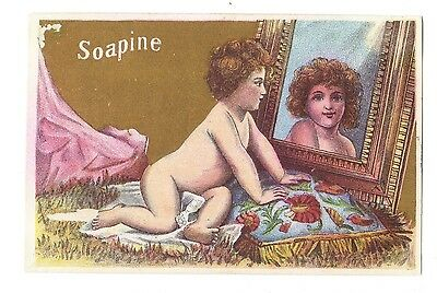 Soapine Kendall Mfg Co. Baby Looking at Image in Mirror