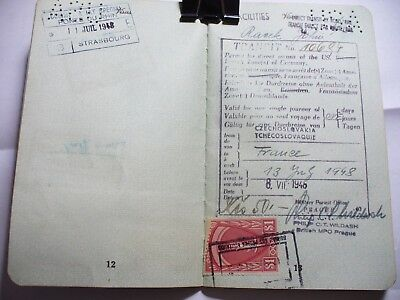 Vintage Passport Usa 1948 Travel Amg Stamps Us, French Zones In Germany