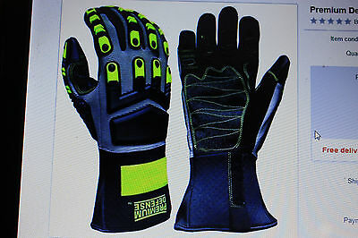 Premium Defense  Monster Grip Gloves Touchscreen Technology, New Size XXLarge