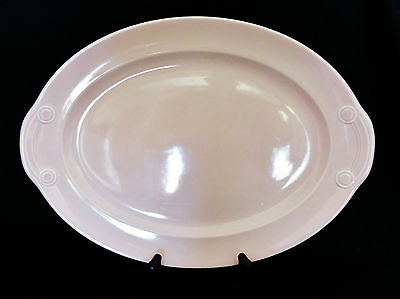 "Lu Ray LuRay Pastel Pink 13"" Oval Platter #6521 Taylor Smith Taylor Pottery"