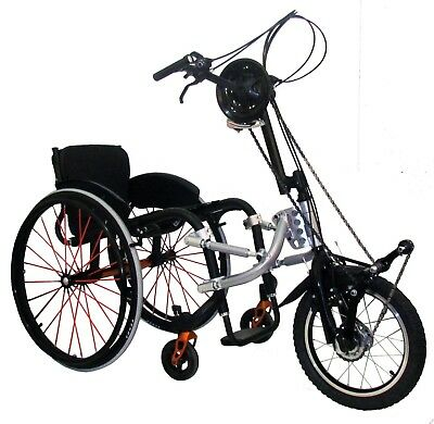 SMART Adventure Bike Manual Attachable Handcycle (Hand Bike) Kit for Wheelchair