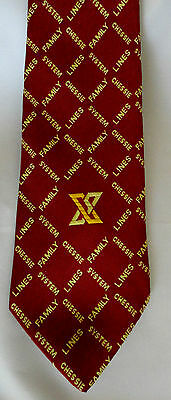 Burgandy CHESSIE Railroad Logo NECKTIE Men Train Tie Chesapeake Ohio CSX System