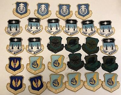 Large lot of great variety USAF good cond. patches -USAF ACADEMY,Forces Pacific