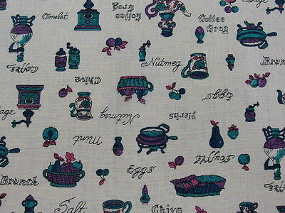 "America Vintage fabric Retro kitchen Item 45""x36"" by the yard"