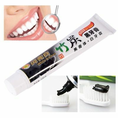 Bamboo Charcoal Teeth Whitening Black Toothpaste Removes Stains Bad Breath #TOP