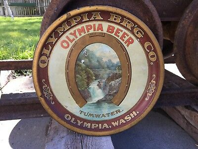 Pre Prohibition Olympia Brewing Co Beer Tray Pie Pan Tumwater Washington WA