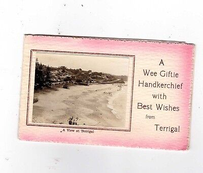 Australia Postcard, HANKERCHIEF POSTCARD, A View of TERRIGAL NSW