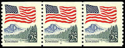 """US #2280-Pl. 9  25¢ Yosemite """"Gray Trees"""" color variety PS3 PNC3 Fine+ NH MNH"""