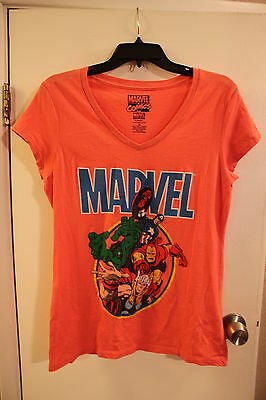 Lot of 2 Junior Girls Women's Size X Large XL Short Sleeve T Shirt Marvel