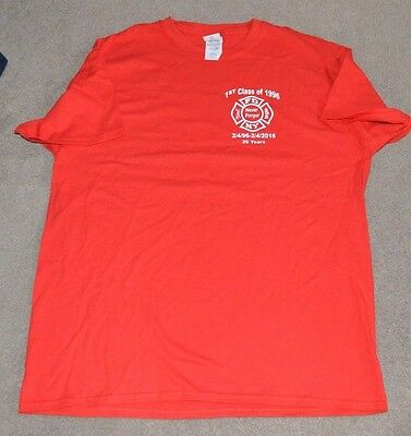 FDNY 1st Class of 1996 Shirt Large NYC 2-Sided NY