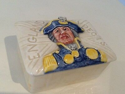 Lancaster ware Admiral Lord Nelson Porcelain Box #424