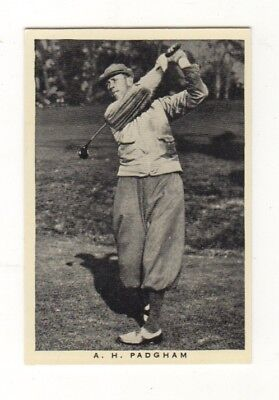 Wills Golf Card. Alfed Padgham