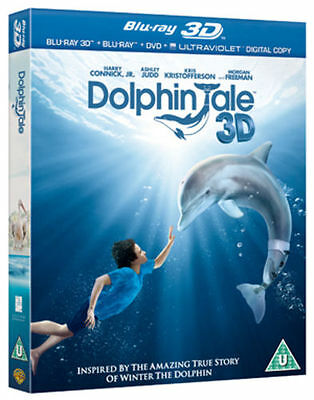 Blu Ray DOLPHIN TALE tru 3D and 2D + DVD. Brand new sealed.