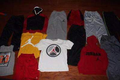Boys Air Jordan Clothing Lot 13 Pieces Hoodies Shirts Pants Shorts Tank Medium