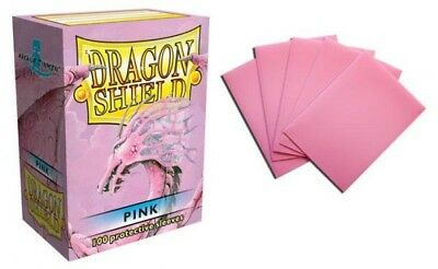 Dragon Shield - Pink 100 Protective Sleeves Cases Standard Card Holder