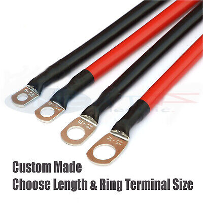 170 Amp Car Battery Power Earth Cable Choose Colour Length Terminal Hole Sizes