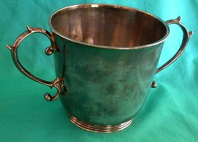 C. 1703 William & Mary 2-handled cup - Irish Sterling Silver - James Walker