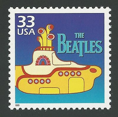 53rd Anniversary The Beatles Fab 4 Debut Liverpool Yellow Submarine Movie Stamp!