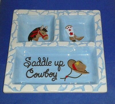 Rare ISABELLA'S JOURNEY Sectional Childrens' Horse Dish * Saddle Up Cowboy *