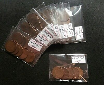 USA Wheat Cent Penny Copper (5 pieces) Nice Higher Grade Coins Various Dates
