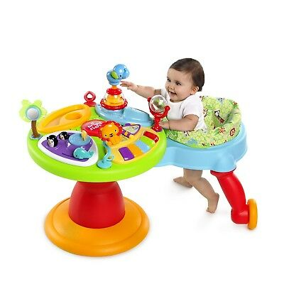 Bright Starts 3 In 1 Around We Go Activity Center Station Baby Walker And Toys