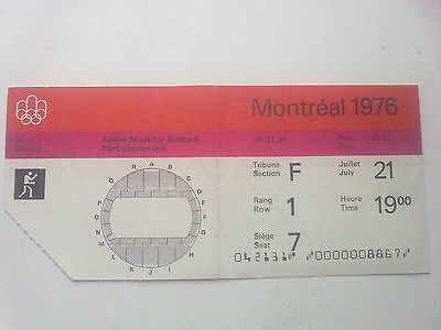 Ticket Olympic Games MONTREAL 21.07.1976 - BOXING (19:00)