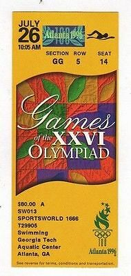 Ticket Olympic Games ATLANTA 26.07.1996 SWIMMING