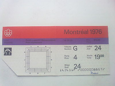 Ticket Olympic Games MONTREAL 24.07.1976 - WRESTLING (19:00)