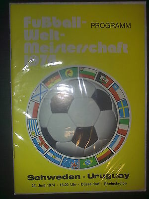 Programme World Cup Germany 1974 Sweden - Uruguay