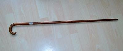 C 1900  wood walking cane silver mount Benedicte 49 Highbury Hill N London