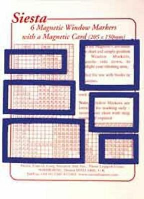 6 Magnetic Window Markers and Card for use with Magnetic Boards