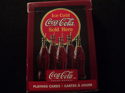 Coca Cola  Ice Cold Coca Cola Sold Here Playing Card Deck