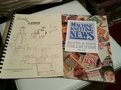 2 machine knitting books please see description and photos