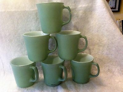 Vintage Pyrex Green Coffee Cups