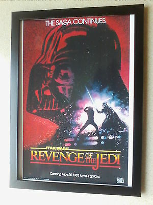 Star Wars Revenge of the Jedi framed movie poster