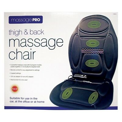 Back & Thigh Massage Chair Remot Control Invero Heated for Car/Home/Office Gift