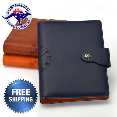 A5 Business Leather cover Planner Schedule Calculator Notebook Diary Organizer
