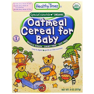 Healthy Times Organic Baby Cereal VARIETY PACK - 12 Boxes, 6 Different Flavours