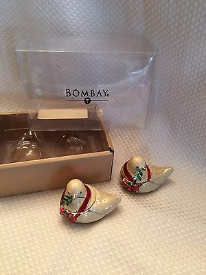 Set of 2 BOMBAY CHRISTMAS Dove Bird TEALIGHTs in BOX New! RARE Precious