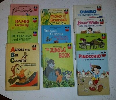 Lot Of 10 Disney Wonderful World Of Reading Books + Donald Duck  Vintage!