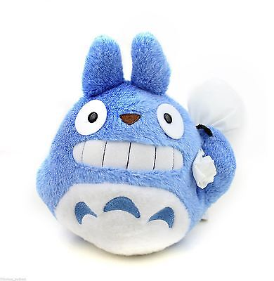 Official Studio Ghibli My Neighbor Blue Totoro Carring a Bag Plush Toy (M) 19cm
