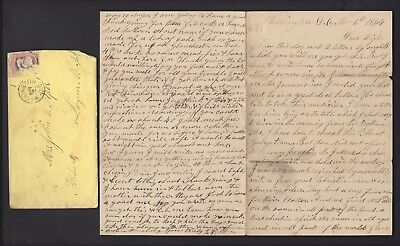4th Massachusetts Artillery CIVIL WAR LETTER Great Content to Wife in Lynn, MA