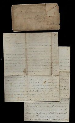 107th Illinois Infantry CIVIL WAR LETTER Written from Camp Hobson, Glasgow, KY